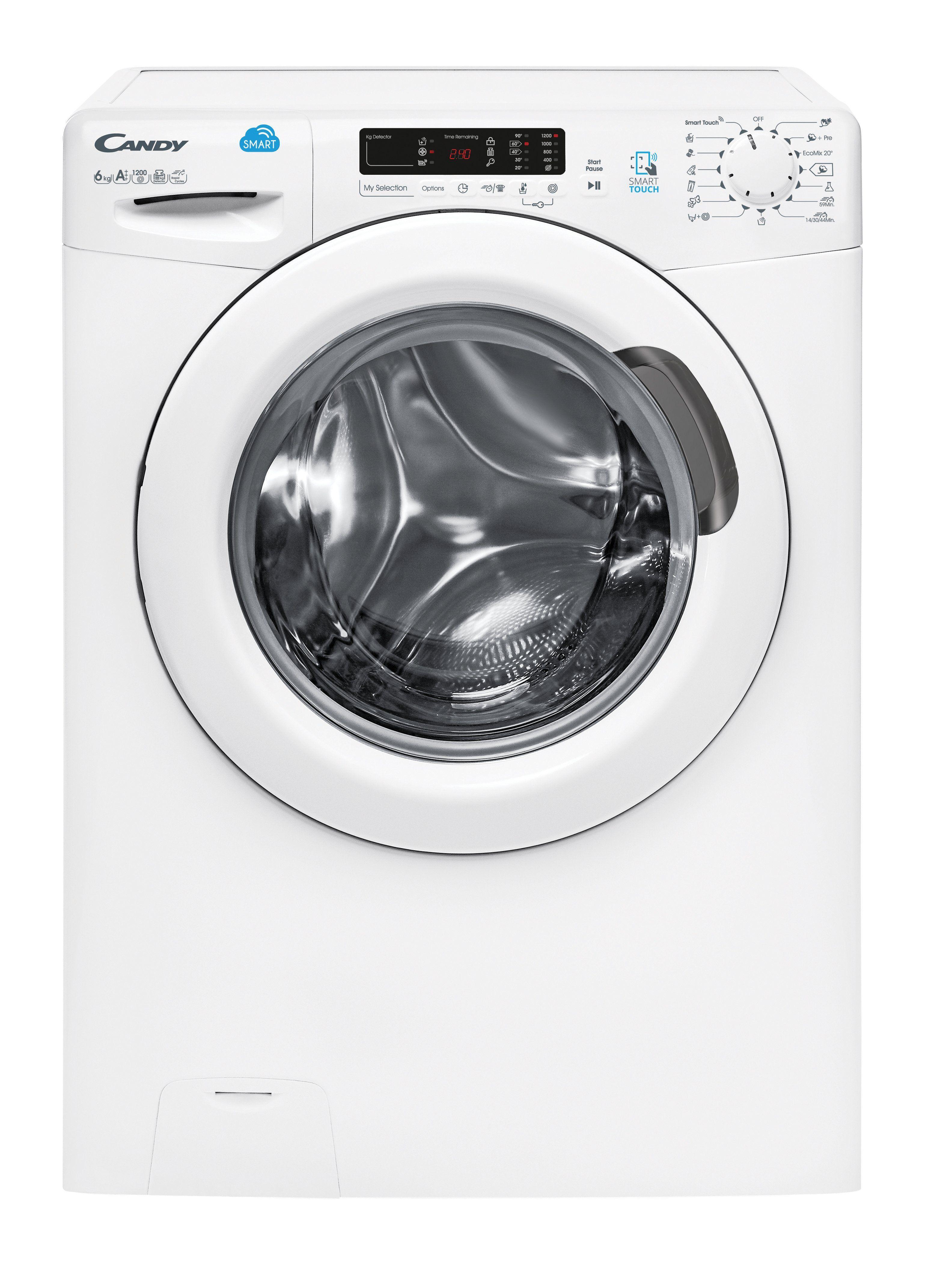 Candy Waschmaschine CS4 1262D3/1-S, 6 kg, 1200 U/Min,, Energieeffizienzklasse A+++