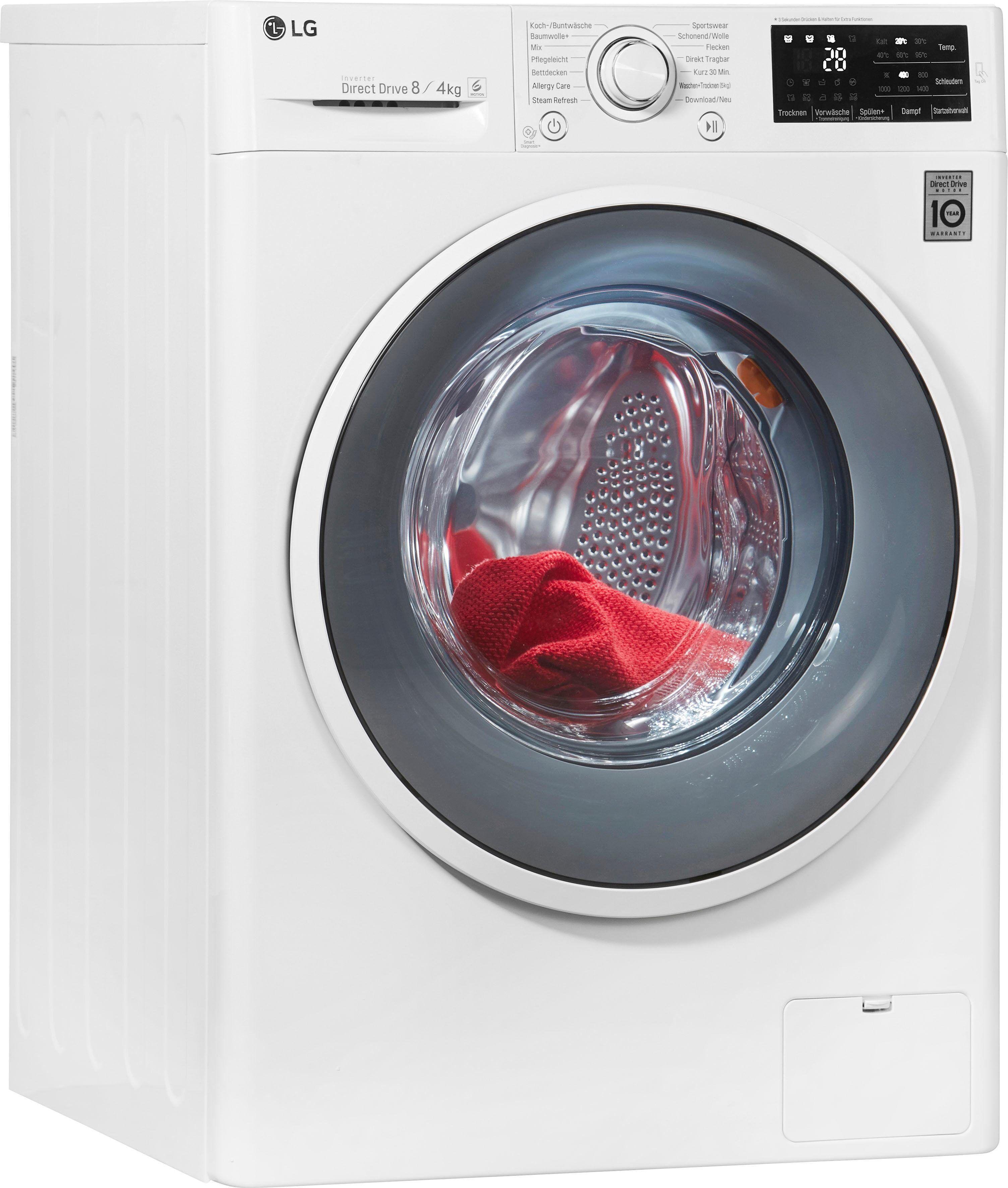 LG Waschtrockner F14WD84EN0, 8 kg/4 kg, 1400 U/Min, Energieeffizienzklasse A