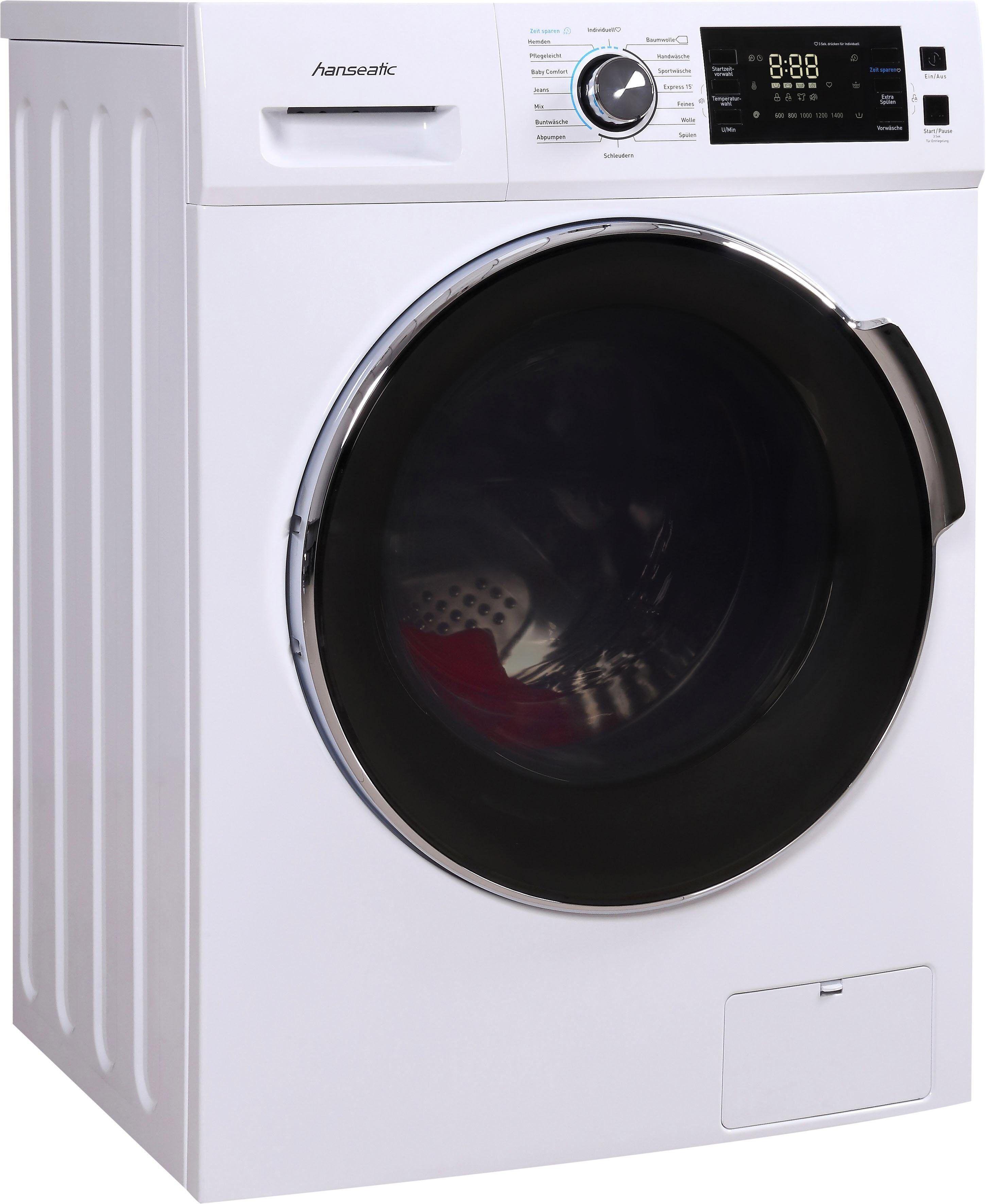 Hanseatic Waschmaschine HWMB814A3, 8 kg, 1400 U/Min, Energieeffizienzklasse A+++