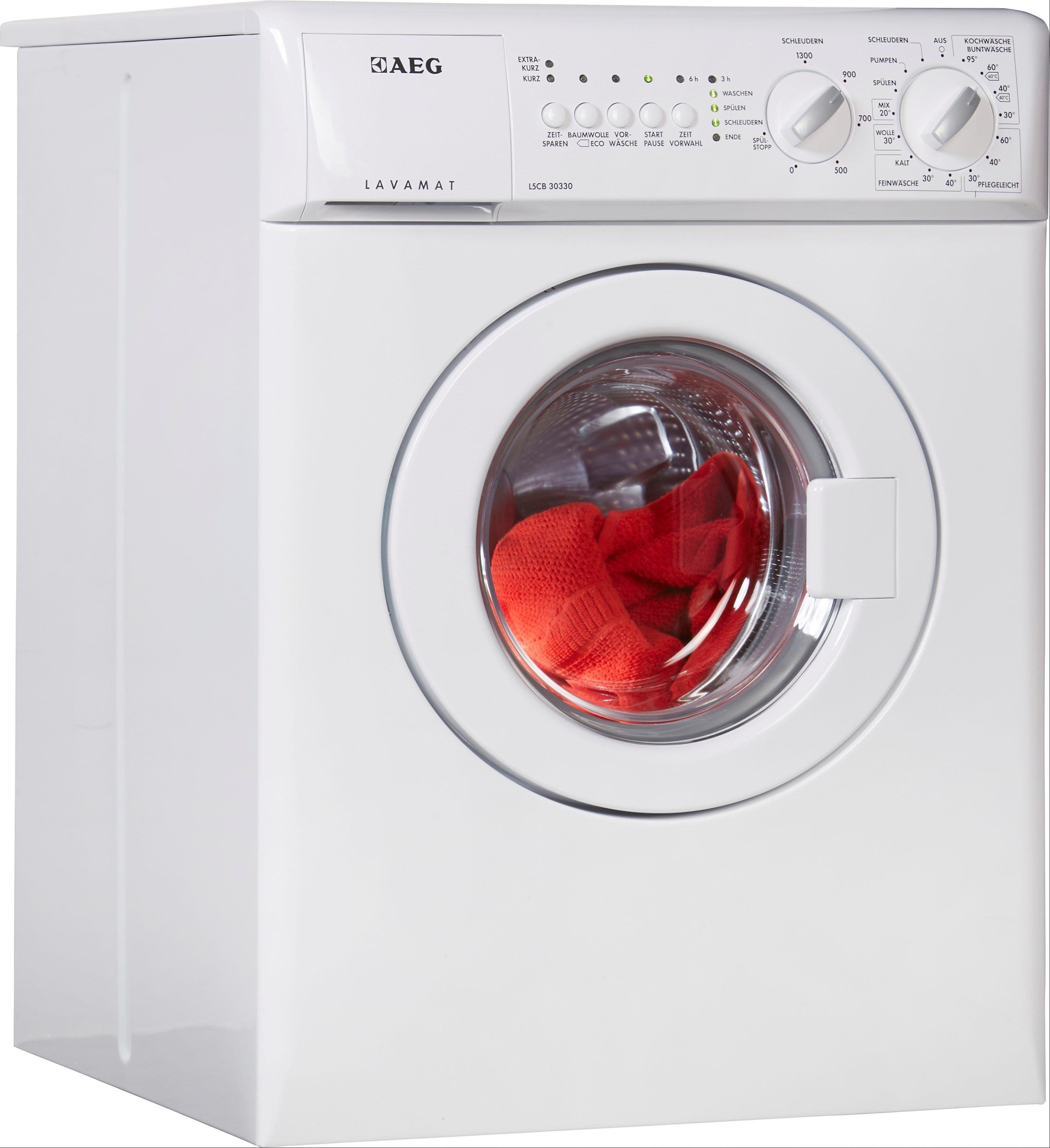 AEG Waschmaschine L5CB30330, 3 kg, 1300 U/Min, nur 515 mm tief, Energieeffizienzklasse A