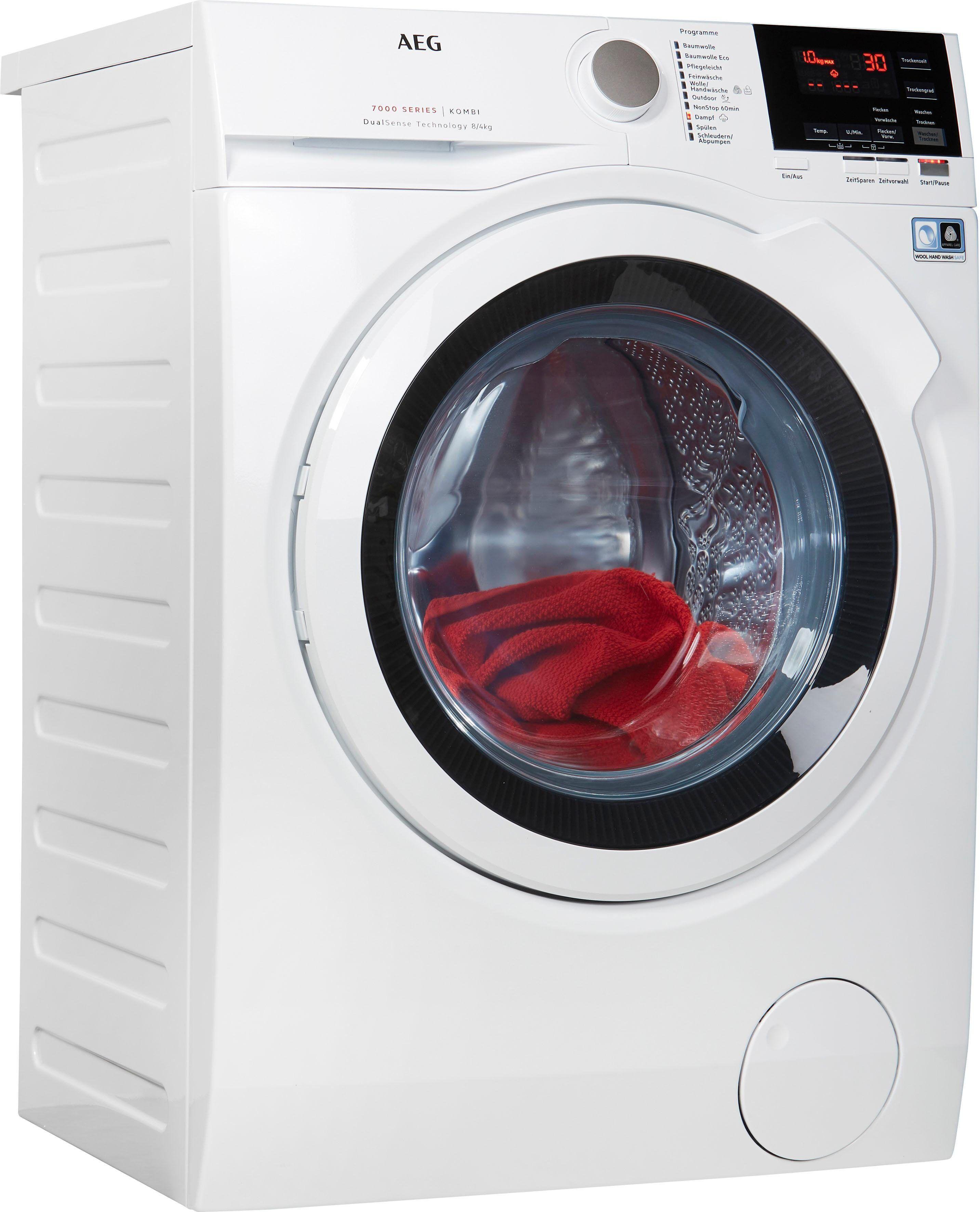 AEG Waschtrockner Serie 7000 LAVAMAT KOMBI L7WB65684, 8 kg/4 kg, 1600 U/Min, mit DualSense für schonende Pflege, Energieeffizienzklasse A
