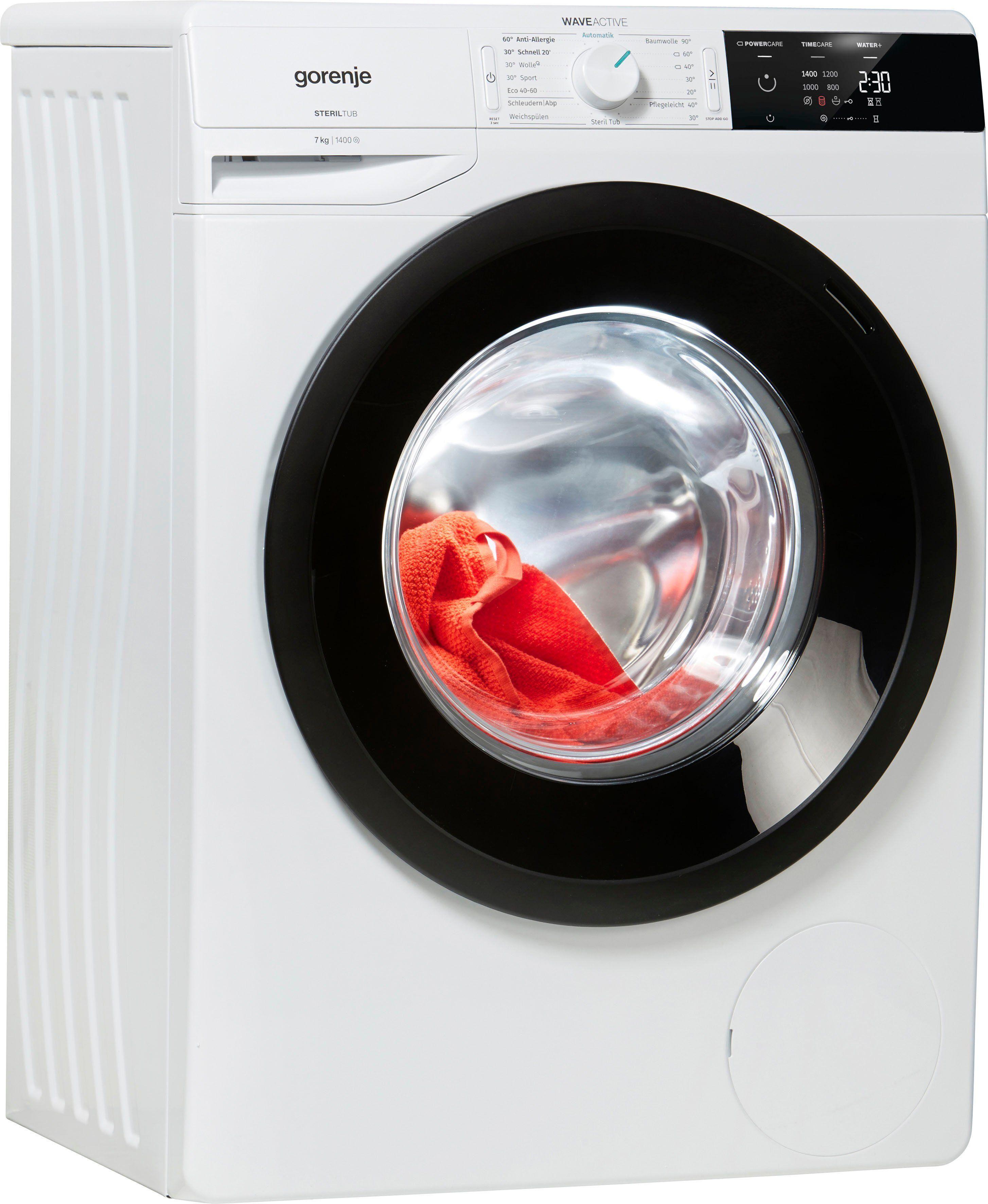 Gorenje Waschmaschine Wave E 74S3 P, 7 kg, 1400 U/Min, Energieeffizienzklasse A+++