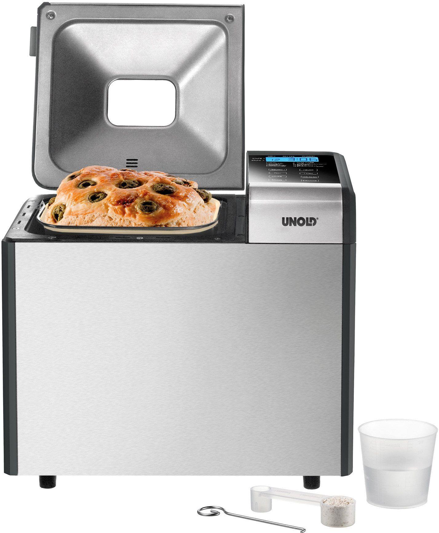 Unold Brotbackautomat Backmeister® Top Edition 68415, 12 Programme, 615 W, FUSION Sol-Gel Keramik Antihaftbeschichtung