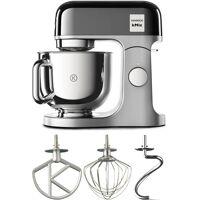 kenwood küchenmaschine kmx760bc kmix premium edition in black chrome mit 3-tlg. pâtisserie-set, 1000 w, 5 l schüssel