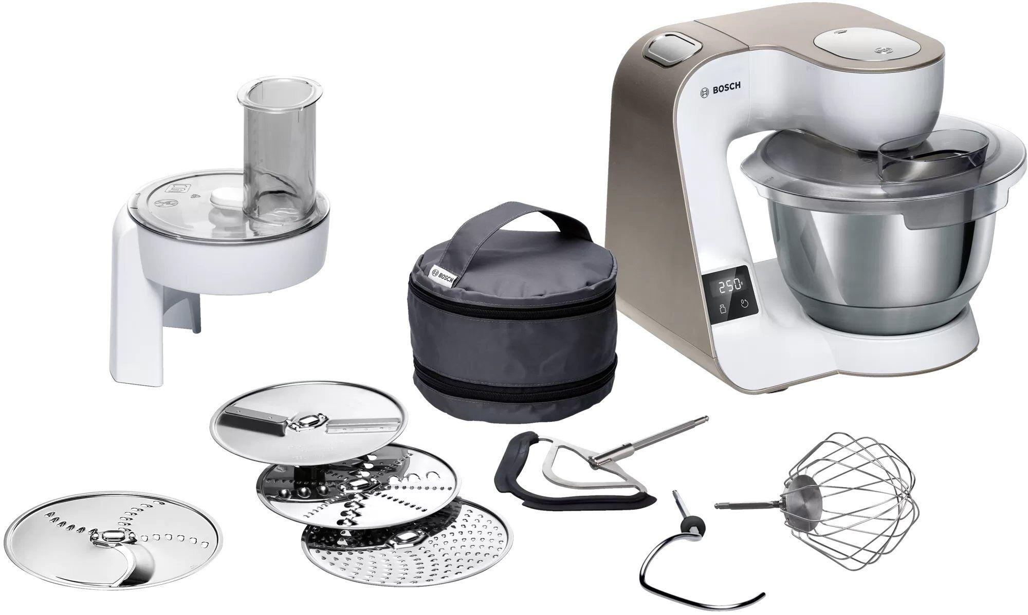 Bosch Küchenmaschine MUM5XW10 MUM5 1000W mit integrierter Waage, 1000 W, 3.9 l Schüssel