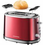 Grundig Toaster TA 6330, 850 W, rot-edelstahlfarben