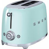 smeg toaster tsf01pgeu, 2 kurze schlitze, für 2 scheiben, 950 w