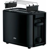 braun toaster ht 3010 bk, 2 kurze schlitze, für 2 scheiben, 1000 w