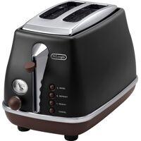 delonghi toaster ctov 2003.bk, 2 kurze schlitze, 900 w
