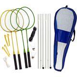 Best Sporting Badminton Komplett-Set, blau/grün