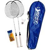 Best Sporting Badminton-Set 200 XT, blau/weiß