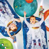 Apart WORLDS APART ReadyBed Junior 2in1 (Schlafsack, Kissen und Luftmatratze), blau-kombi