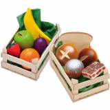 Erzi® Spiellebensmittel Set Obst+Backwaren aus Holz