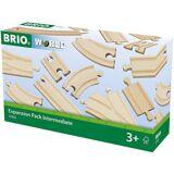 Brio Ergänzungsset Holzschienensystem, »WORLD Mittleres Schienensortiment«
