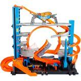 Hot Wheels Autorennbahn »® City Ultimative Garage mit Hai-Angriff«, inklusive 2 Spielzeugautos