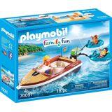 Playmobil Konstruktions-Spielset »Sportboot mit Fun-Reifen, »Family Fun««
