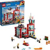 Lego Konstruktionsspielsteine »Feuerwehr-Station (60215), City«, bunt