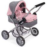 CHIC2000 Puppenwagen »Mini-Kuschelwagen Smarty, grau-rosa«, mit herausnehmbarer Tragetasche, grau-rosa