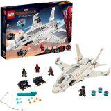 Lego Konstruktionsspielsteine »Starks Jet und der Drohnenangriff (76130), Marvel Super Heroes™«, (504 St), bunt