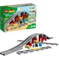 lego konstruktionsspielsteine »eisenbahnbrücke und schienen (10872), duplo® town«, (26 st)