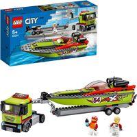 lego konstruktionsspielsteine »rennboot-transporter (60254), city great vehicles«, (238 st)