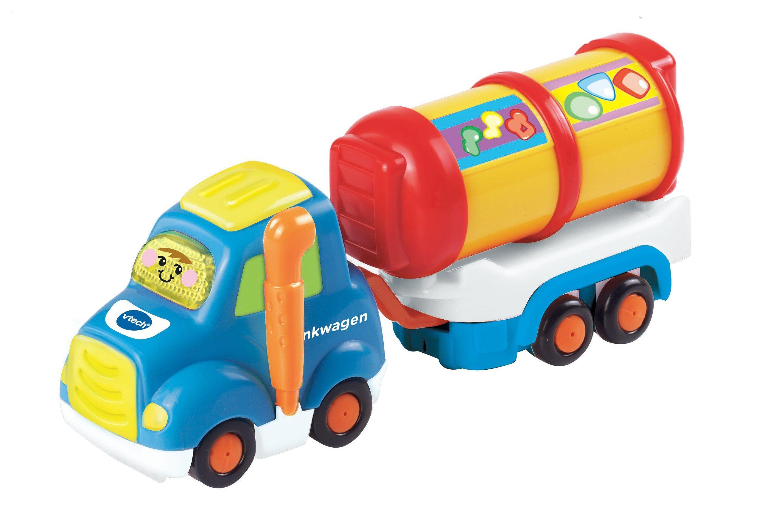 Vtech® Spielzeug-LKW »VTech Baby, Tut Tut Baby Flitzer-Tankwagen & Anhänger«, (Set), bunt