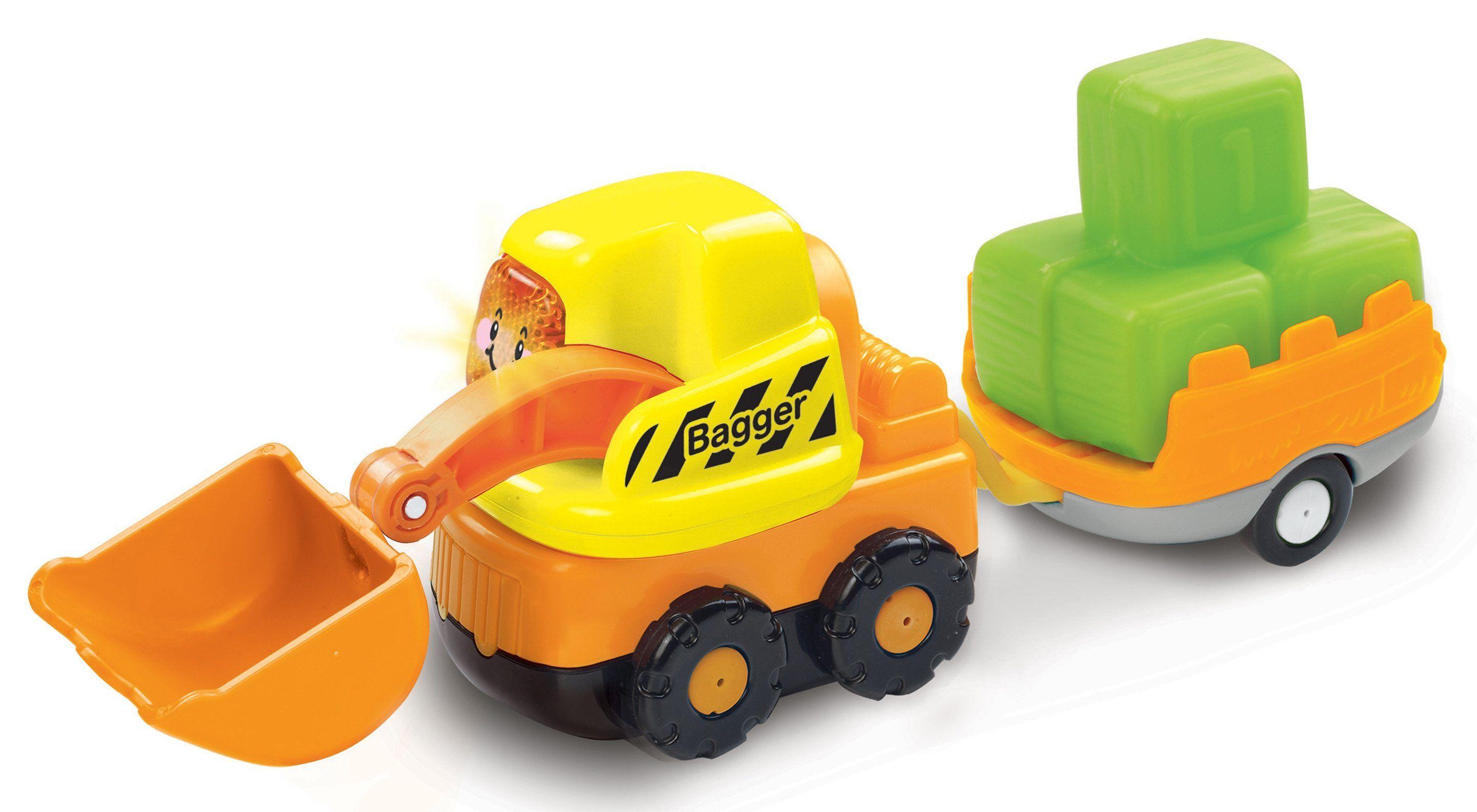 Vtech® Spielzeug-Bagger »Tut Tut Baby Flitzer Bagger und Anhänger«, (Set, 2-tlg)