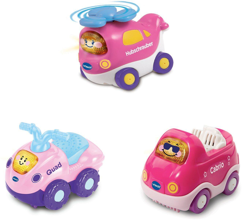 Vtech® Spielzeug-Auto »Tut Tut Baby Flitzer«, mit Hubschrauber, Quad und Cabrio, rosa