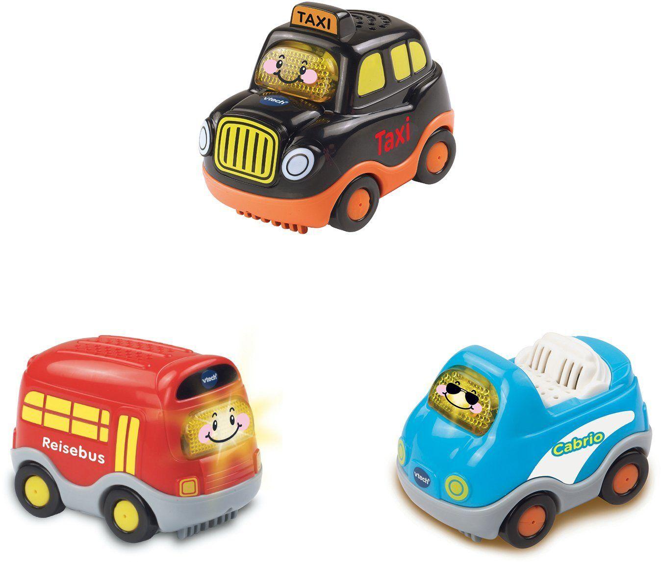 Vtech® Spielzeug-Auto »Tut Tut Baby Flitzer«, (Set), mit Taxi, Reisebus, Cabrio, bunt