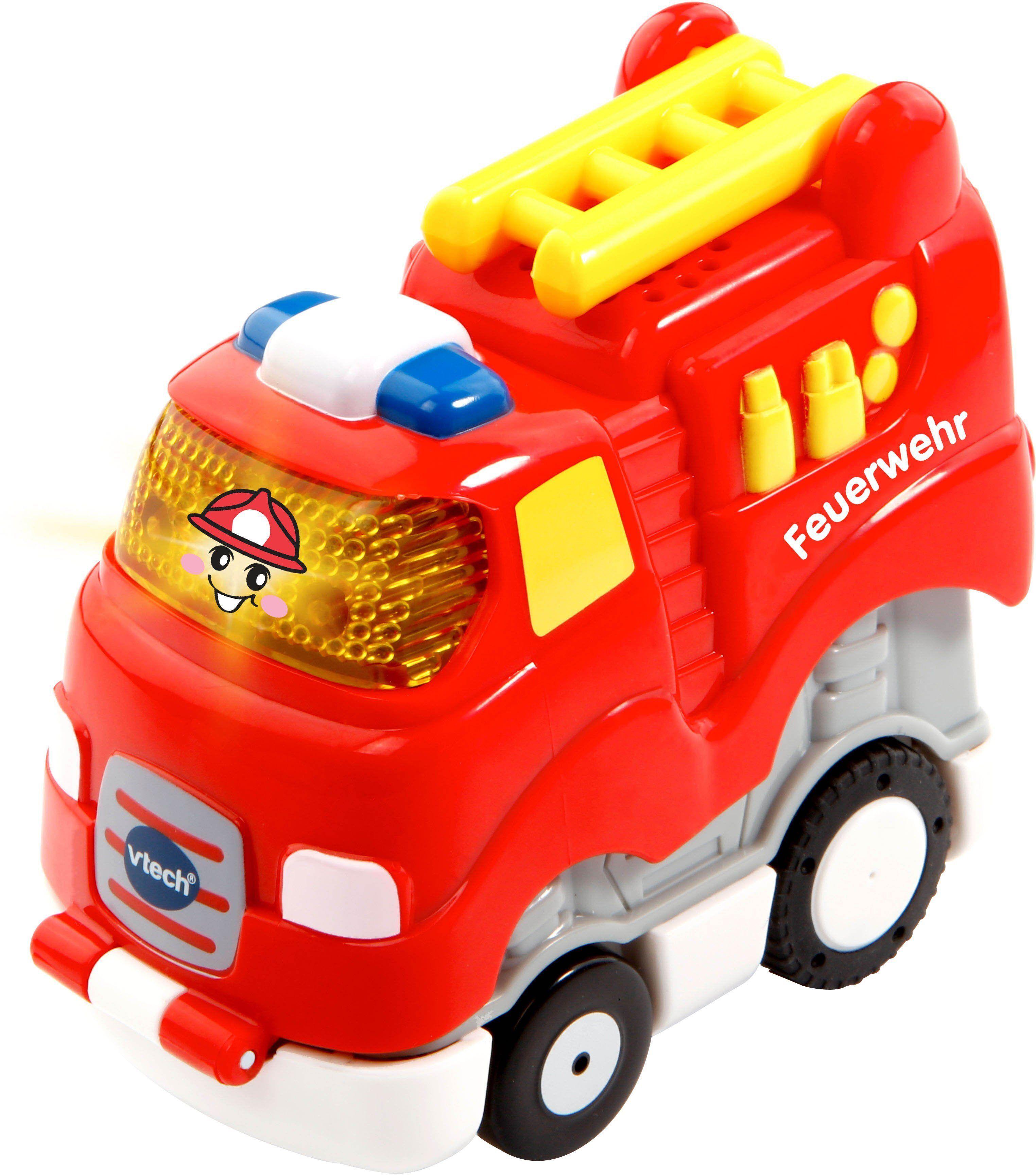 Vtech® Spielzeug-Auto »Tut Tut Baby Flitzer Press & Go Feuerwehr«, mit Licht und Sound, rot