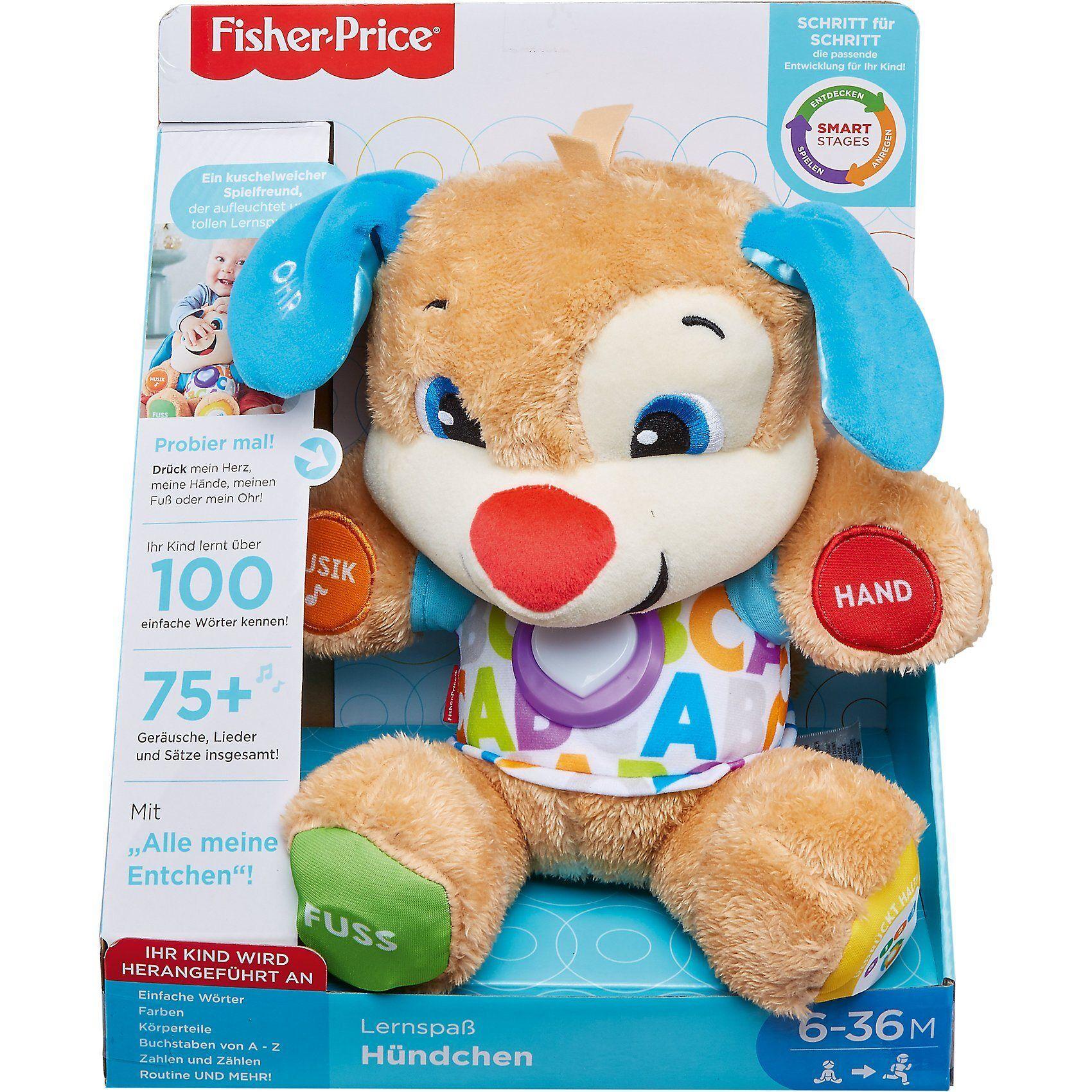 Mattel Fisher-Price Lernspaß Hündchen, Baby-Spielzeug mit Musik, Ku, blau