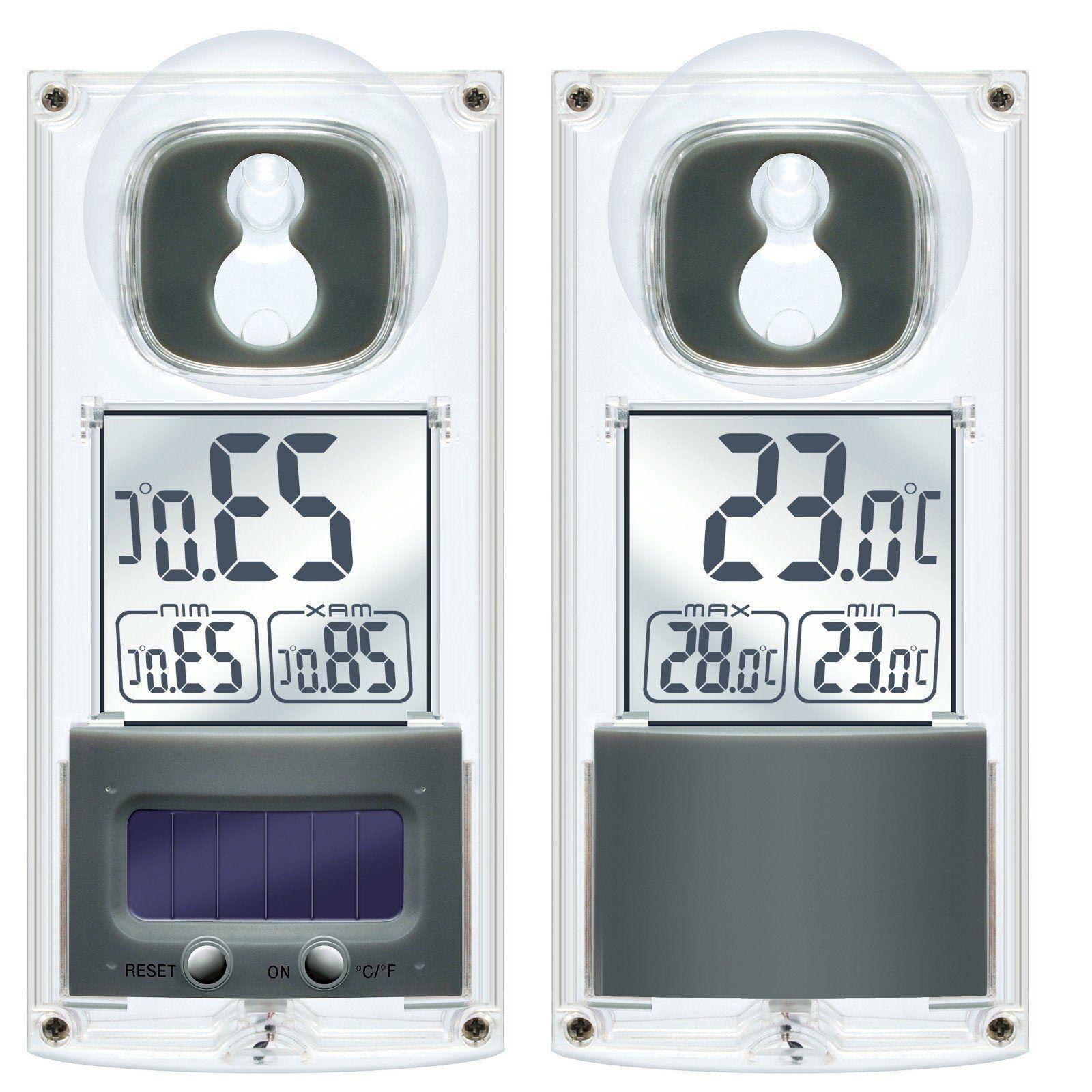 BRESSER Thermometer »Solar Fenster Thermometer mit Saugnapf«