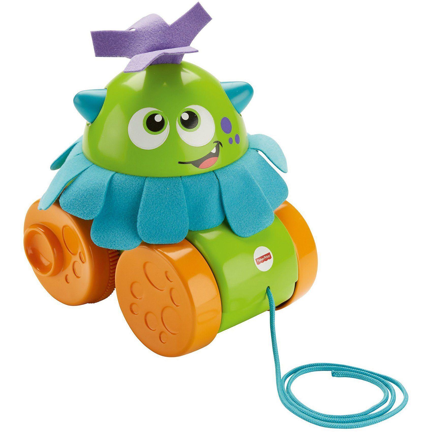 Mattel Fisher-Price Wirbel-Monster, Baby-Spielzeug, Nachzieh-Spielz