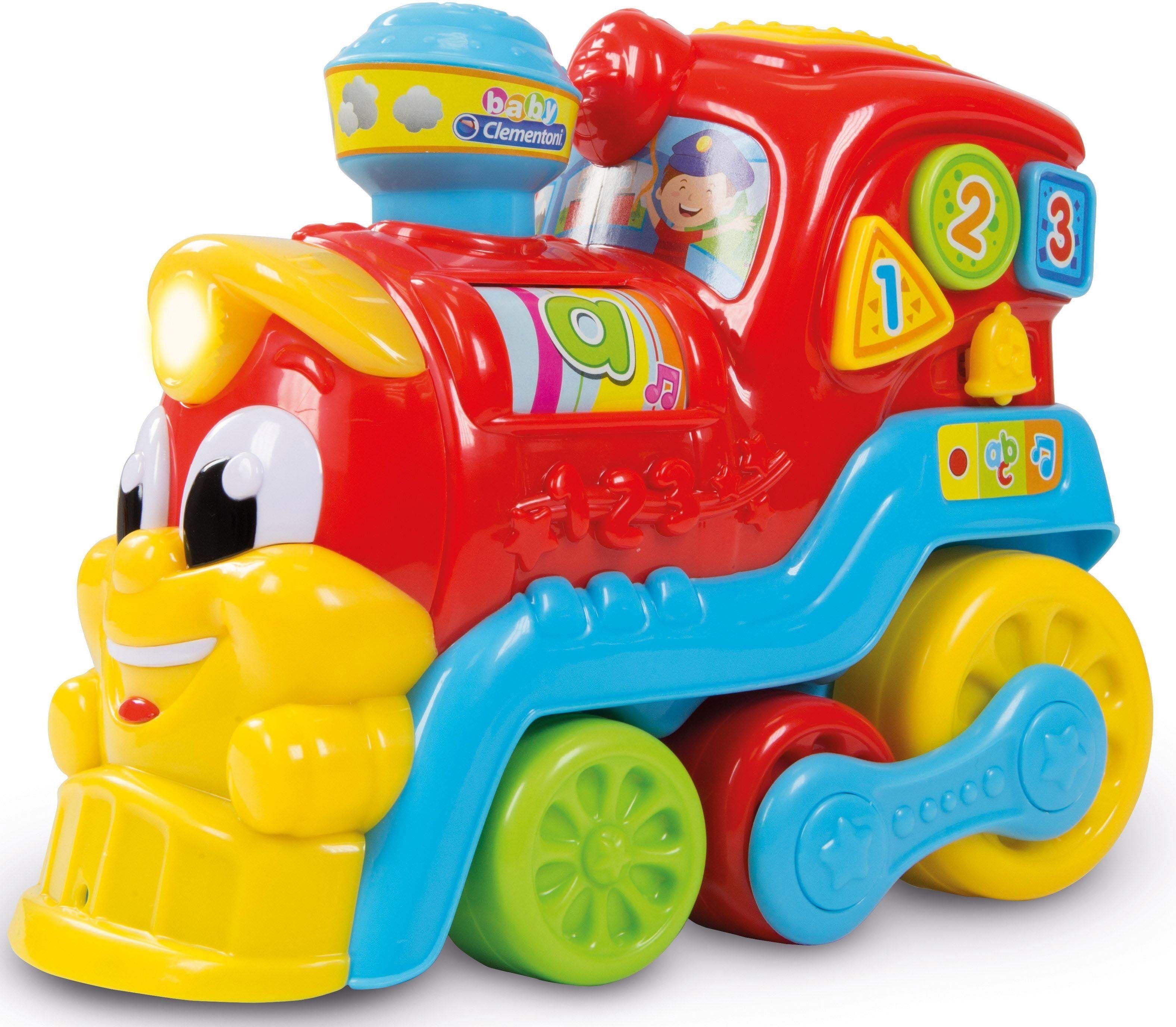 Clementoni® Spielzeug-Eisenbahn »Baby Nino, die kleine Eisenbahn«, mit Licht und Sound, bunt