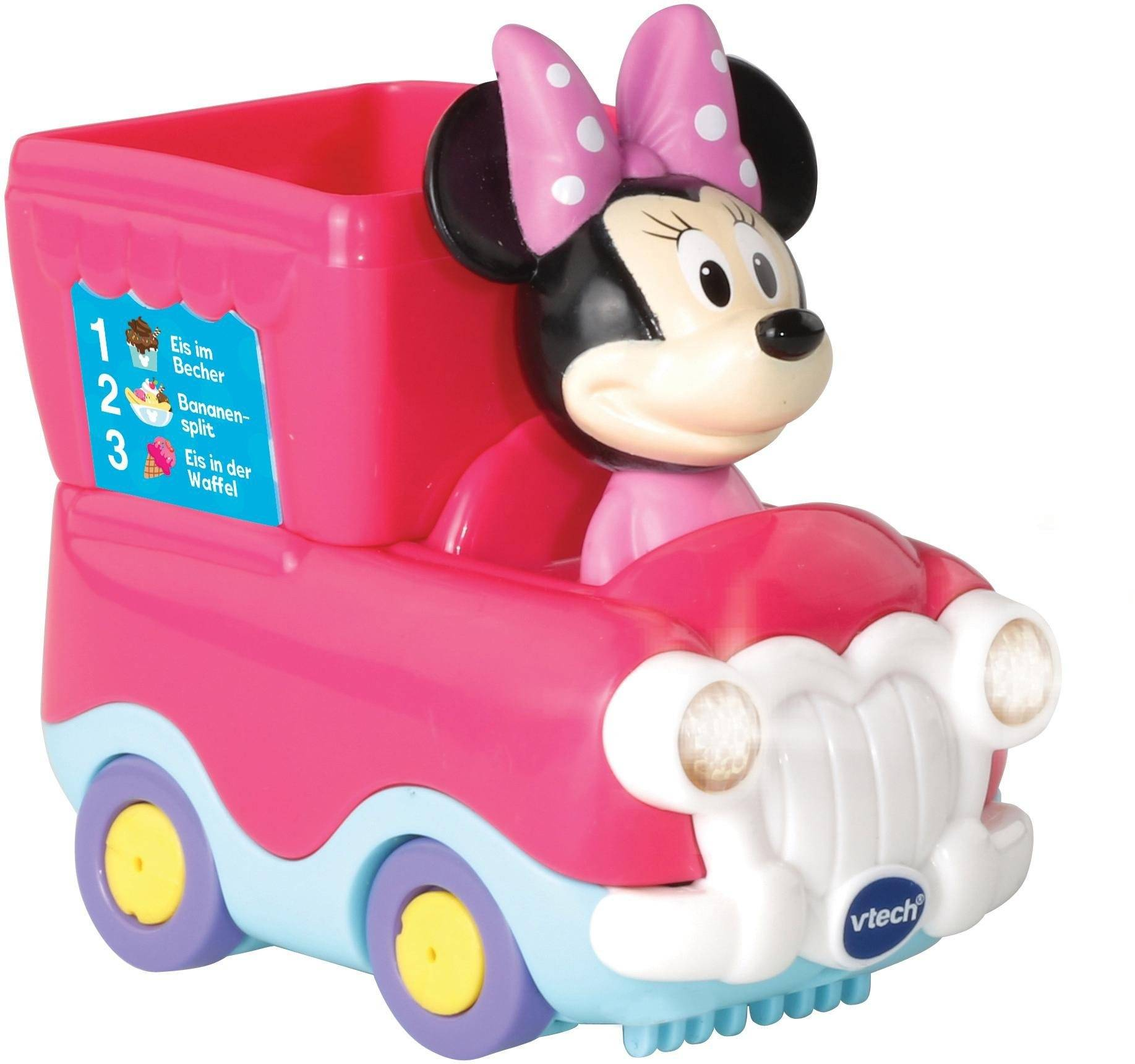 Vtech® Spielzeug-Auto »Tut Tut Baby Flitzer Minnies Eisdiele«, (Set), rosa
