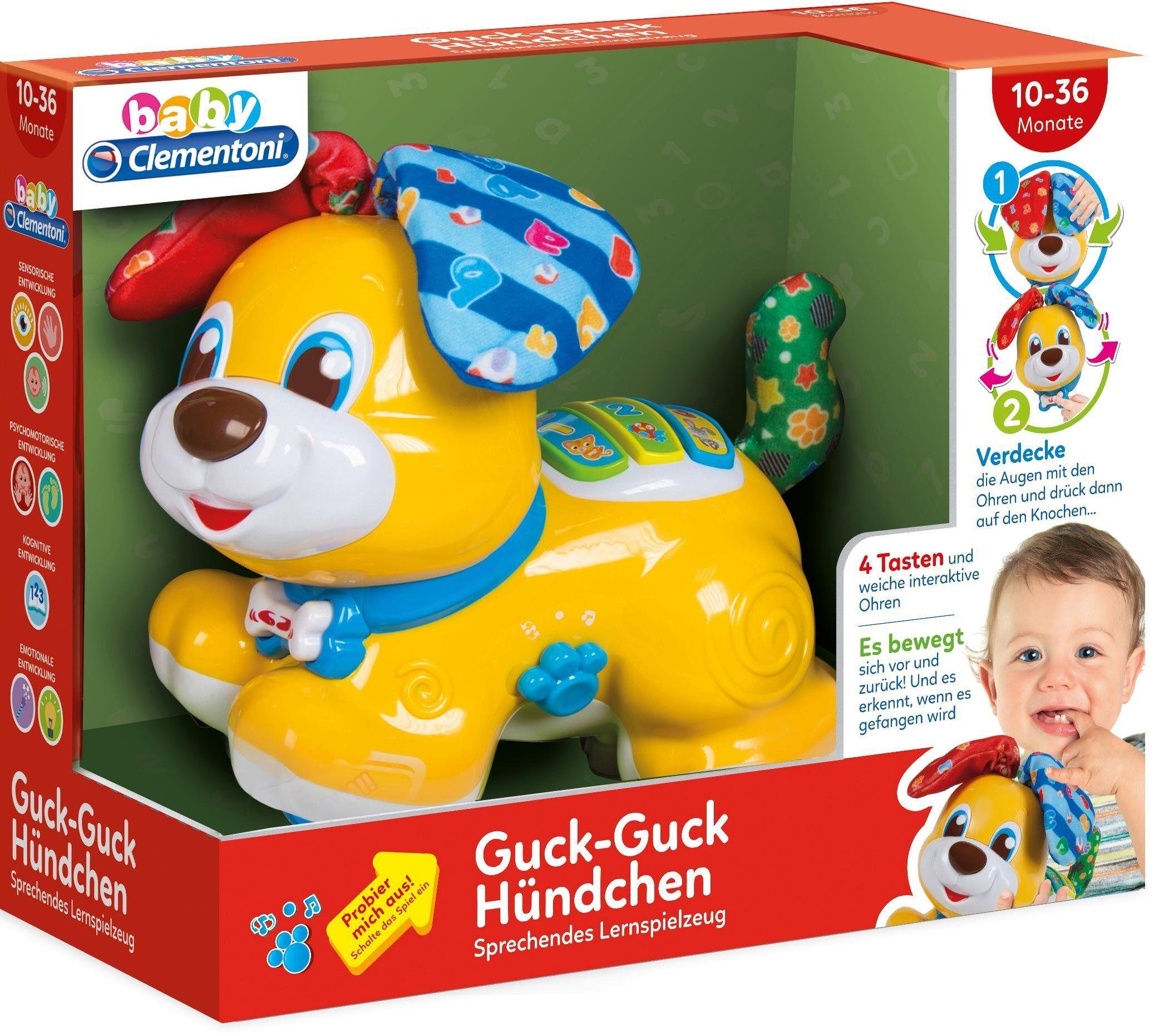 Clementoni® Clementoni Elektronisches Spielzeug mit Soundeffekten, »Baby, Guck-Guck Hündchen«