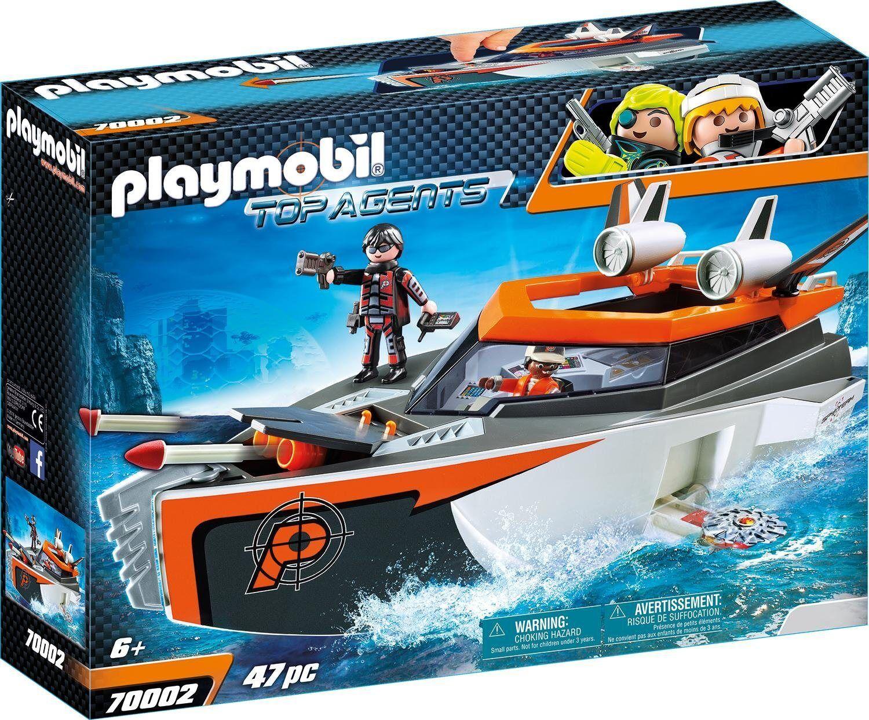 Playmobil Konstruktions-Spielset »Spy Team Turboship (70002), Top Agents«, Made in Germany