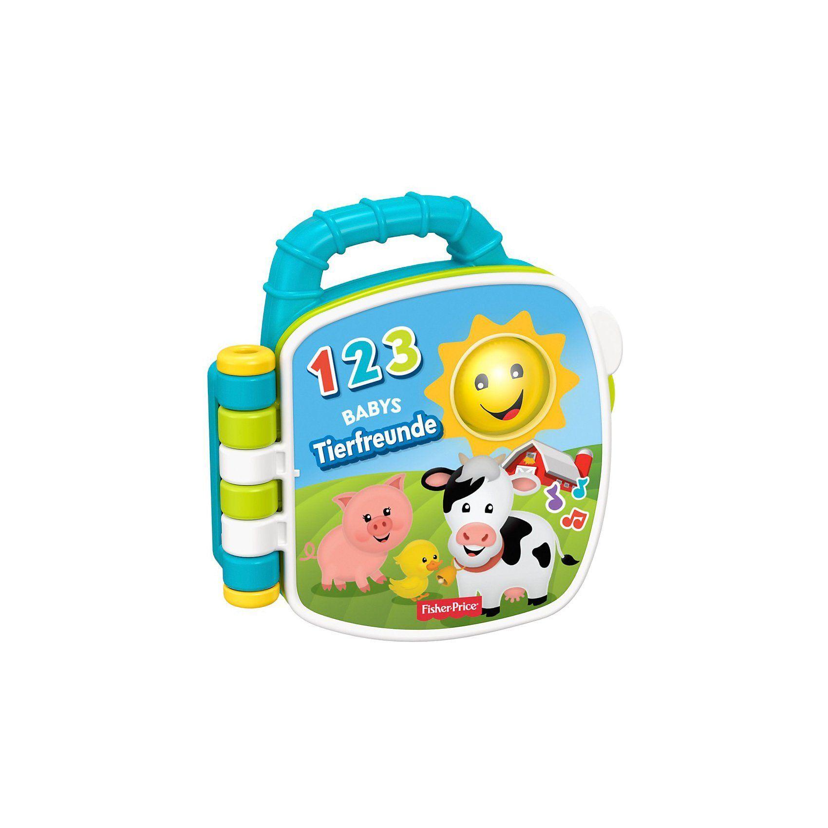 Mattel Fisher-Price Tierfreunde-Liederbuch, Baby-Spielzeug mit Musi