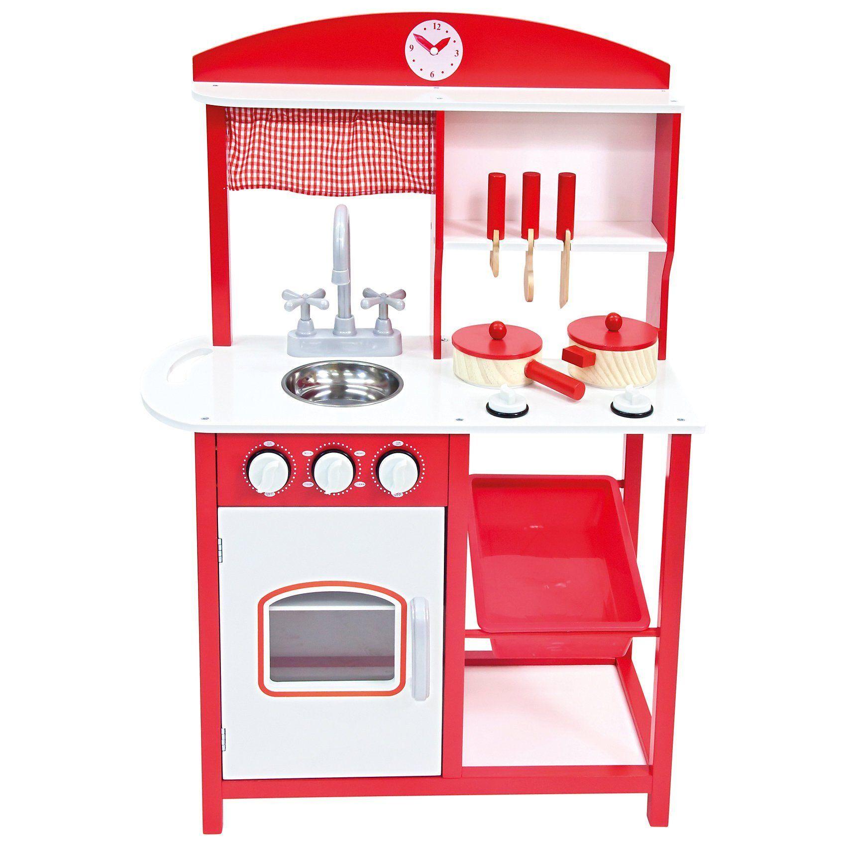 BINO Holz-Kinderküche Delicia mit Zubehör, 8tlg.