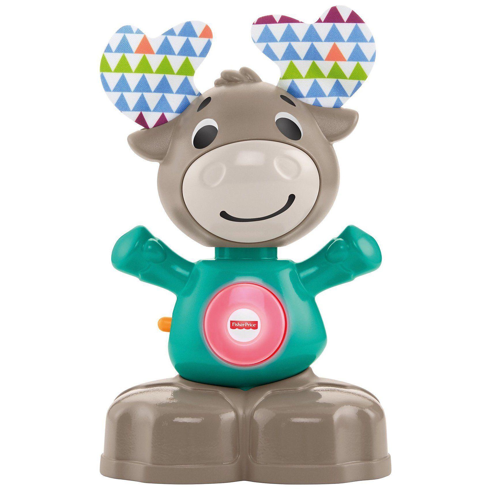 Mattel Fisher-Price BlinkiLinkis Elch, Baby-Spielzeug mit Musik, Le