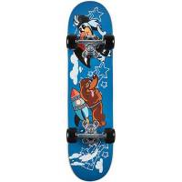 fun4u skateboard raketen hund, 15x61 cm mehrfarbig