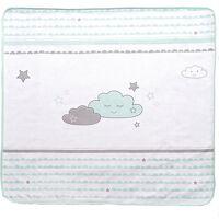 roba babydecke happy cloud, mint/ taupe, 80 x 80 cm