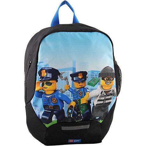 LEGO Kinderrucksack Backpack LEGO CITY Police Chopper hellblau