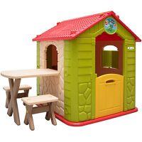 littletom garten kinderhaus mit tisch kunststoff grün