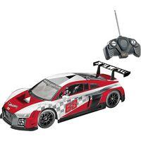 happy people hot wheels audi r8 lms (1:18) - ferngesteuertes auto, rotes racing-design, 8 km/h