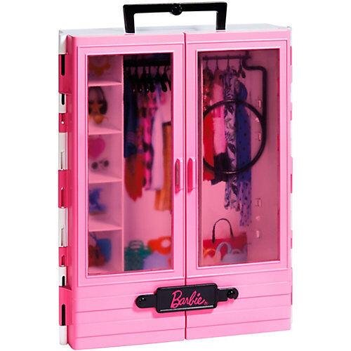 Mattel Barbie Tragbarer Kleiderschrank Barbie-Puppen Kleidung und Mode  Kleinkinder