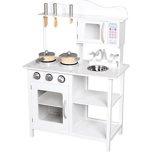 Bino Holz-Kinderküche Amelie mit Zubehör, 8tlg.