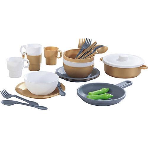 KidKraft 27-teiliges Küchenset in edlem Metallic-Look