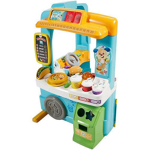 Mattel Fisher-Price Lernspaß Food-Truck, Baby-Spielzeug, Kaufmannsladen, Lernspielzeug