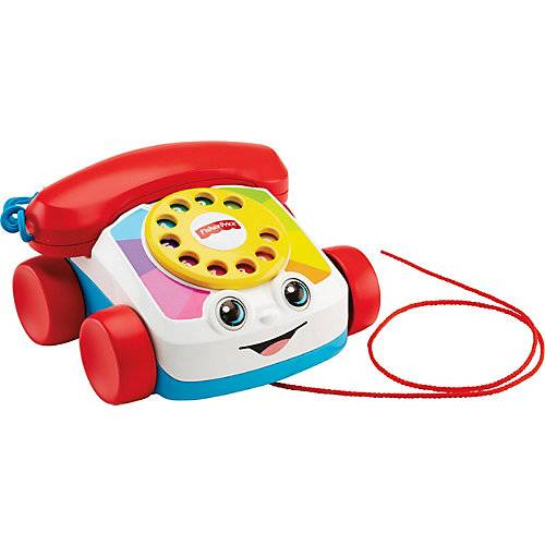Mattel Fisher-Price Plappertelefon, Baby Spielzeug-Telefon, Nachzieh-Spielzeug, Nachziehtier